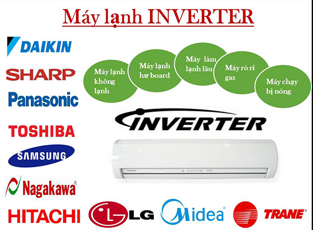 sua may lanh inverter